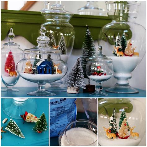 wonderful diy christmas sparkly snow decoration