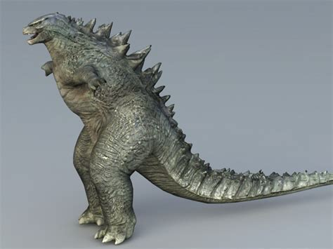 Godzilla Monster 3d model Collada,Object files free