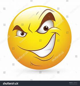 Smiley Emoticons Face Vector Cunning Evil Stock Vector ...