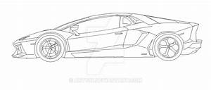 Lamborghini Aventador Side View MS Paint by Ant787 on ...
