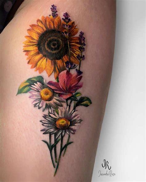 sunflower tattoos   brighten   life