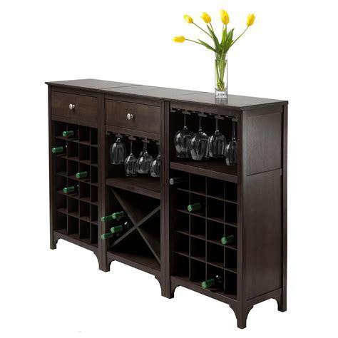 wine furniture cabinets amazon com winsome 3 ancona wine cabinet modular