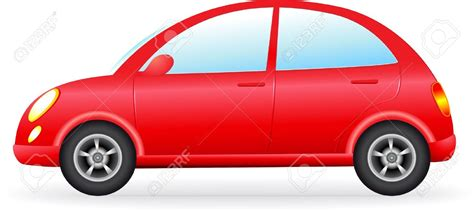Red Car Vector Clipart Collection