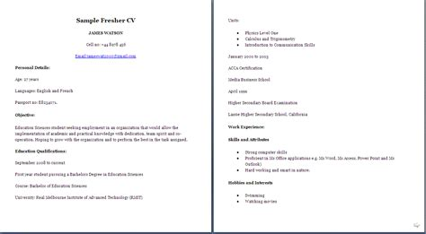 jobresumeweb sample resume  middle school students