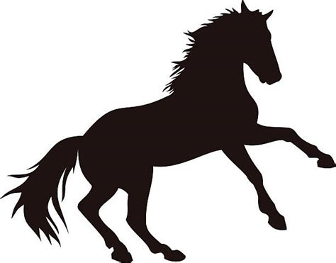 mustang horse silhouette mustang clip art vector images illustrations istock