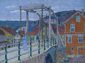 Harold Gilman, 'Study for 'Canal Bridge, Flekkefjord'' c ...