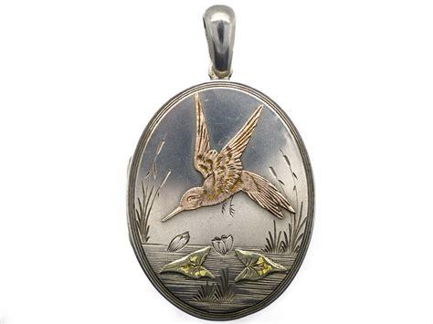 Victorian Aesthetic Period Silver & Gold Overlay Locket. Fine Platinum. Placer Platinum. Fingerprint Platinum. Ultimate Platinum