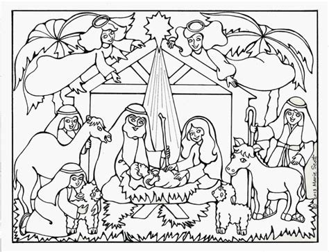 nativity coloring pages coloring home