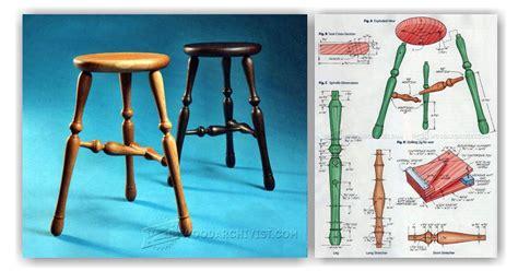 legged stool plans woodarchivist