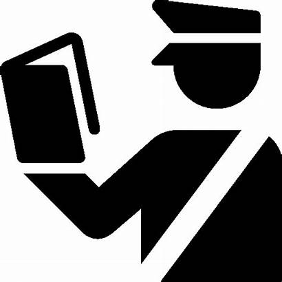 Customs Icon Officer Clipart Travel Office Tax