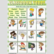 Classroom Verbs  Interactive Worksheet