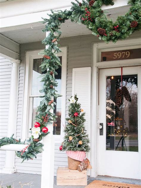 front porch christmas trees better homes and gardens style spotters decorating blog