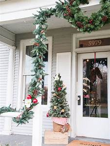 Front, Porch, Christmas, Trees