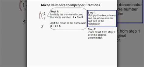 How To Convert Mixed Numbers Into Improper Fractions « Math Wonderhowto