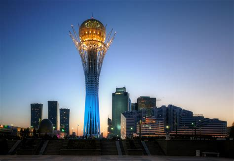 bayterek tower  kazakhstan thousand wonders