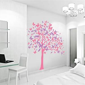 butterfly tree wall decal butterfly wall art sticker With butterfly wall decals