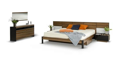 Modrest Rondo Modern Walnut Bedroom Set