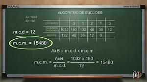 C U00e1lculo Del M C D  Y M C M  Utilizando El Algoritmo De