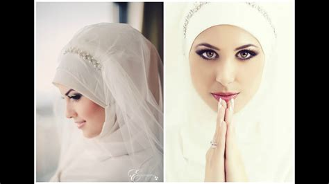 simple bridal hijab tutorial youtube