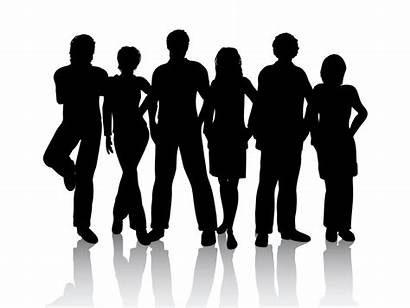 Friends Silhouette Youth Transparent Clipart Cast Standing