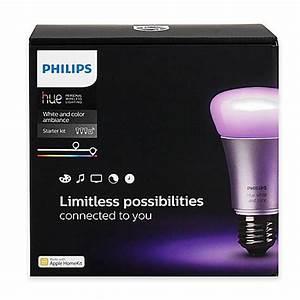 Hue Starter Kit : philips hue white and color ambiance a19 wireless lighting system starter kit bed bath beyond ~ Orissabook.com Haus und Dekorationen
