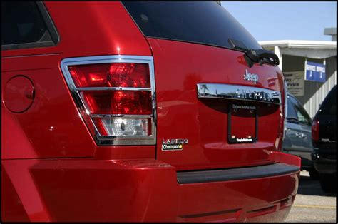 jeep grand cherokee chrome tail light bezel trim covers