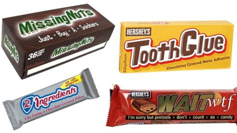 What If Candy Bars Were Named For What They Really Are?