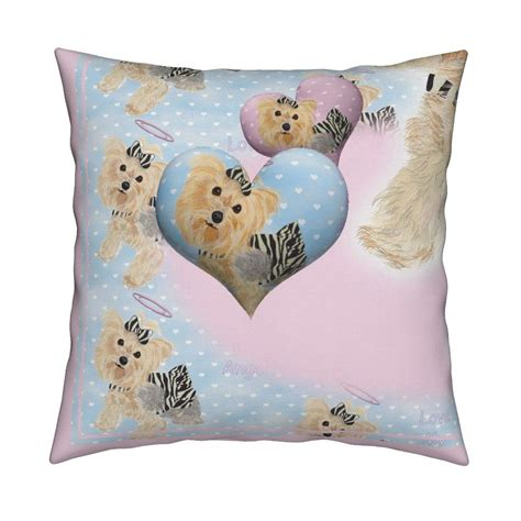 catalan throw pillow featuring angel hearts sky