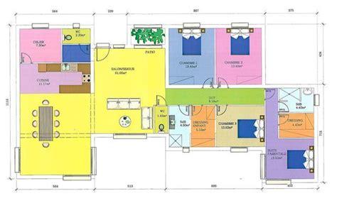 plan maison moderne plain pied gratuit plan de maison plein pied en l gratuit