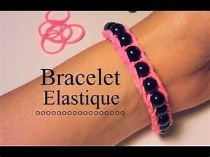 Bracelet Avec Elastique : comment faire un bracelet lastique avec des perles youtube diy bracelets loom knitting ~ Melissatoandfro.com Idées de Décoration
