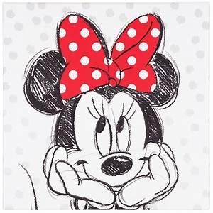 Minnie Mouse Teppich : wandbild keilrahmen kunstdruck 35x35 disney minnie maus schwarz wei rot ~ Indierocktalk.com Haus und Dekorationen