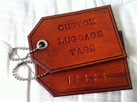 custom personalized leather luggage tag  single luggage tag