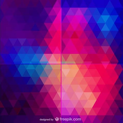 abstract triangle pattern vector free download