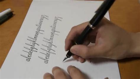 fountainpen writing    copperplate cursive youtube
