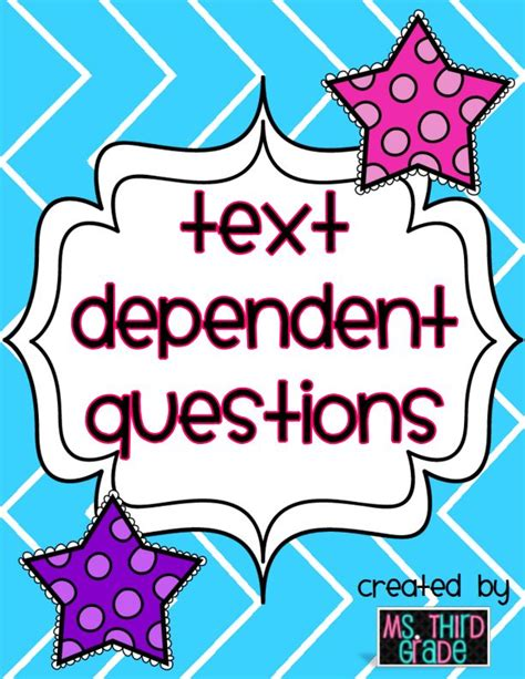 Common Core Text Dependent Questions