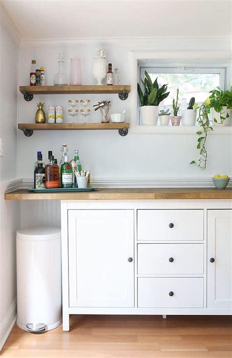 diy ikea kitchen cabinets ikea hacks diy bar cabinet kitchenette shrimp salad 6811