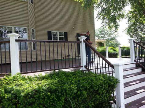azek kona deck kona handrail white risers  post