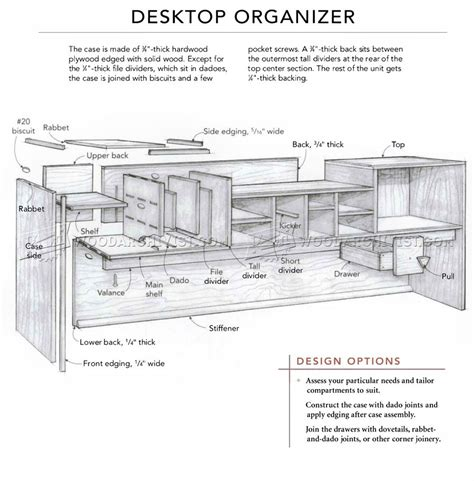 desktop organizer plans woodarchivist