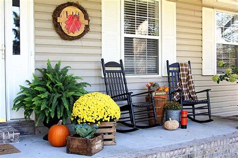 Ideas For Fall Front Porch by Fall Front Porch Ideas The Organized