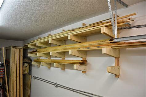 wall mounted garage shelving diy white diy wall mounted lumber rack featuring