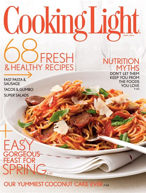 cuisine light free cooking light for 500 respondants married to