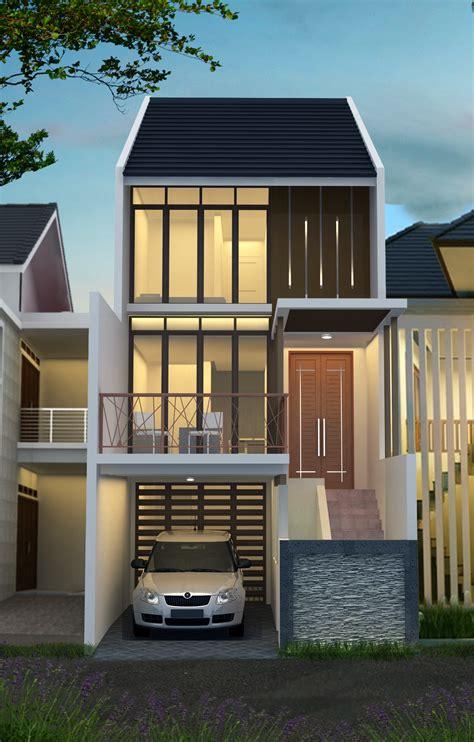 desain rumah     minimalis tiga lantai desain