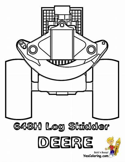 Skidder Coloring Construction Pages Deere Cat Log