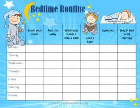Kids Bedtime Routine Chart Printable