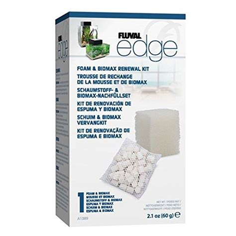 fluval edge filter fluval edge foam biomax filter media renewal kit