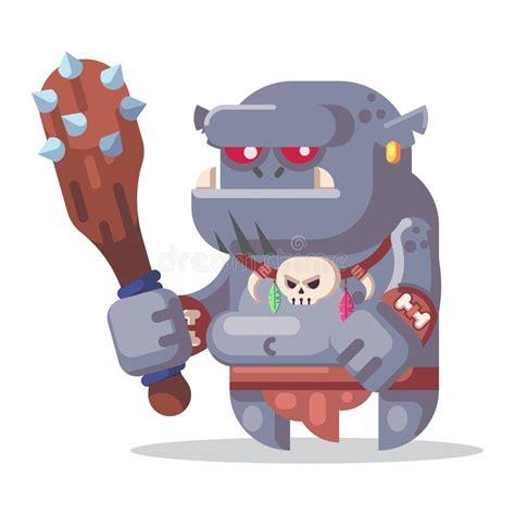 Illustration För Symboler För Monster Och För Hjältar För Tecken För FantasiRPG Modig Ond Elakt ...