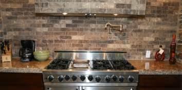 faux brick backsplash in kitchen faux brick tile backsplash in the kitchen tile