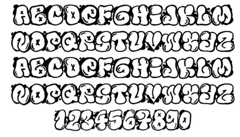 Graffiti Bubble Font : Graffiti Writing Style