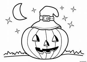 Dessin Facile Halloween : coloriage halloween maternelle facile enfant dessin ~ Melissatoandfro.com Idées de Décoration