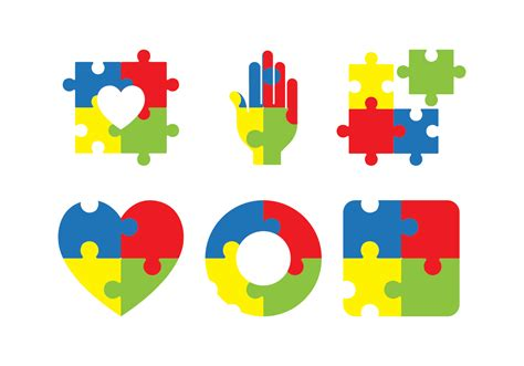 autism awareness icon   vector art stock